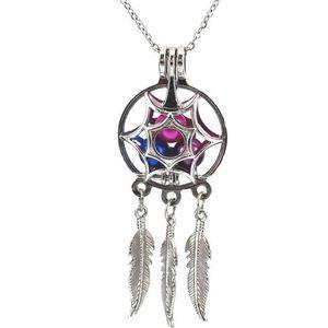 Atacado- Pérola gaiola Pingentes Para DIY Oyster desejo amor colar de pérolas pingentes Medalhões Colorido Pérolas Dreamcatcher colares