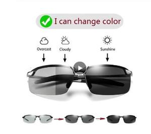 Occhiali da sole di Fotocromatici uomini polarizzati di guida Chameleon Occhiali Maschio Cambia colore di vetro di Sun Day Night Vision driver