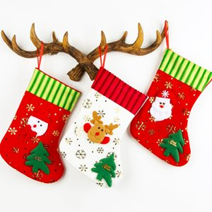 Christmas Stocking Sock Kids Gifts Bag Holders Santa Claus Candy Bags Xmas Tree Hanging Ornament Christmas Decorations For Home