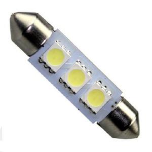 12 В 36 мм 3SMD 5050 LED Интерьер автомобиля Гирлянда Белый свет Купольная лампа Лампа Фара Карта гирлянды Интерьер купола Свет