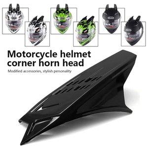 Vehemo 2pcs Casco Horn Racing Mohawk Horns Racing Motocicleta para casco Universal Horn Motocross para decorar