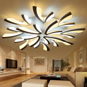 Lámparas de techo LED remotas Lámparas modernas Lámparas de techo Luz de casas Luz de aluminio Acrílico Luz de Luz de Luz de Luz Para 8-35 Métidos