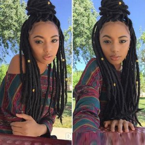 18inch doux Dreadlocks Crochet Tresses Jumbo Dread Coiffure Ombre Pure Color synthétique Faux Locs Tressage Extensions cheveux 24stands / Pack