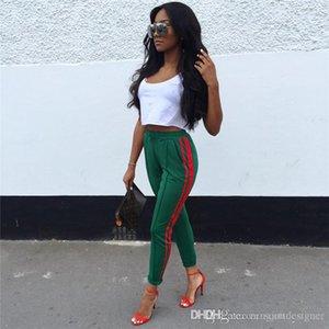 Donna sportiva Pantaloni Desinger estate colore solido elastico in vita a righe Stampa Abbigliamento sport femminile moda abbigliamento