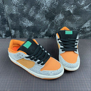 Boa Qualidade Dunk Low Pro SB Skate desenhista calça New surpreendente Brown Grey Leopard Fashion Desportivo Zapatos Sneakers vem com caixa