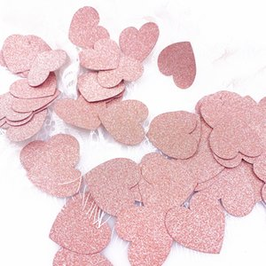 100Pcs Confetti Table Glitter Rose Gold Paper Confetti 3cm Decorations Birthday Gift Wedding Party Table Scatter Decor 2019