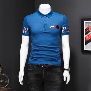 2020 fashion brand men's short-sleeved T-shirt lapel polo shirt embroidered casual T-shirt NP5B