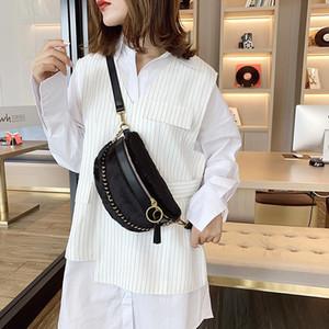Diseñador-Sense bolsa de estilo occidental Bolsa 2020 populares Versión coreana del hombro Nuevo-estilo textura Disco Hobos Moda