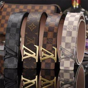2020, la alta calidad de Leathe real rL Smooth hebilla de los hombres del diseño Correas más nuevo estilo de alta cintura Marca envío gratuito 05