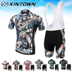 Xintown skull Cycling Jersey mallot ciclismo Outdoor Sports Jerseys motocross bycicle men cheap authentic sports jerseys set