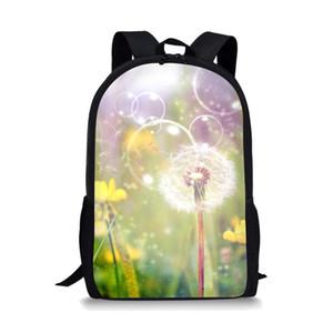Designer-Thikin colorido Schoolbag Flower para adolescentes Raparigas Moda Viagem Backpack Mulheres Prático e colorida Bolsa de Negócios