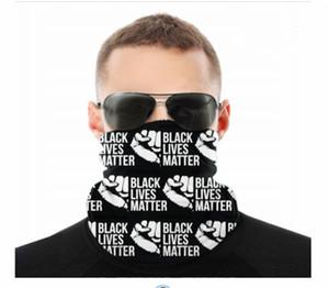 Máscaras BLM Negro Materia Vidas sin fisuras cuello polaina Escudo de la bufanda del pañuelo facial Protección UV para la motocicleta Ciclismo Montar Ejecución de las vendas