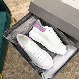 Trendy wild stitching lace leather couple casual shoes on sale luxury fashion designer men and women casual shoes q2