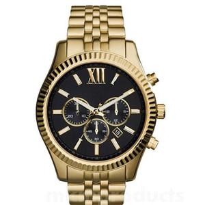 Перевозка груза падения Высокое качество мужские кварцевые часы из нержавеющей стали часы MK8280 MK8281 MK8286 MK8313 MK8319 MK8320 MK8405 + коробка