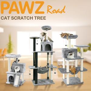 Pet Cat Tree Condo House Scratcher Когтеточка Скалолазание дерево игрушки для кошки котенок защита мебели быстрая внутренняя доставка T200330