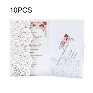10pcs Hollow Lace Wedding Invitation Card Envelope For Festival Holiday Invitation Card Wedding Anniversary Greeting