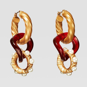 Fashion- Bohemian ZA Crystal Drop Earrings For Women Wedding Newly Fashion Girls Party Gift Dangle Statement Earrings Jewelry