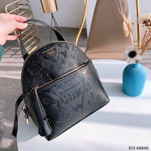 TOP PU bolsa de Europa los hombres de alta calidad famosos diseñadores de bolsos de la lona de las mujeres mochila bolsa de la escuela L Mochila estilo mochilas marcas