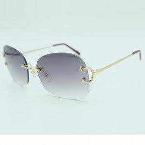 Wholesale-Oversized Luxury glasses Mens Designer Fashion Trending Products 2018 High Quality Sun Glasses Rimless Big Sunglass