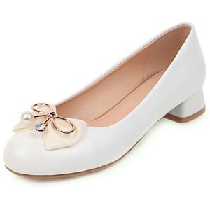 ساريريس القادمون الجدد 2020 ماري جينس مضخات امرأة أحذية الكعب مربع الانزلاق على فراشة الربيع / الخريف أحذية النساء مضخات الإناث