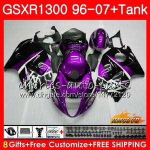 Кузов Для SUZUKI Hayabusa GSXR 1300 GSXR1300 96 97 98 99 00 01 07 24HC.145 GSX R1300 фиолетовый черный 1996 1997 1998 1999 2000 2001 2007 Обтекатель