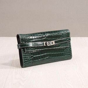 Luxurious2019 возьмите натуральную кожу мэм длинный Фонд Крокодил Вэнь Кайли кошелек клип поймать чистый ручной ручной пакет