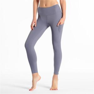 Yoga Alta donne della vita dei pantaloni Quick Dry Sport complete ghette delle signore pantaloni di usura fisica di esercitazione di esecuzione Leggings Pantaloni Athletic