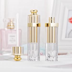 Макияж красота 5 мл пустой блеск для губ тюбик для губ оттенок масла флаконы контейнеры блеск для губ тюбик Золотой бальзам для губ тюбики с палочками серебро