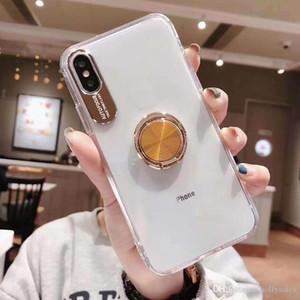 Nouveau Transparent Acrylique + tpu 2 en 1 cas de téléphone avec bague Béquille Pour nouvel iPhone 11 xs max xr Pour huawei accouple 30 Note 10