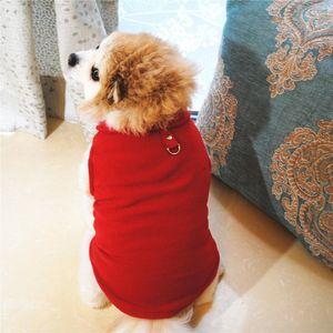 Toka ile Ekose Köpek Giyim Polar Küçük Köpek Yelek 15 Opsiyonel YW2011-1Q Tasarımları Yavru Ceketler Köpekler Giyim Pet Malzemeleri Isınma