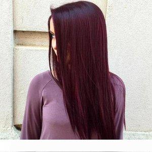 Ein meistverkauften Artikel Burgunder-Wein-Rot Farbe 99j Glattes Haar Weave Bündel brasilianische peruanische Malaysian Remy Menschenhaar-Verlängerungen