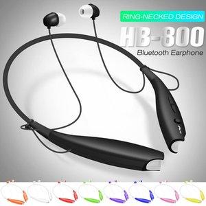 HB 800 drahtloser Bluetooth Kopfhörer Stereo-Kopfhörer-Sport Neckband Earbuds für HB800 Mic-Kopfhörer mit Kleinpaket