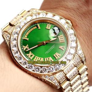 Новая лучшая версия m228345rbr-0011 228349RBR Зеленый циферблат Miyota Автоматический 118348 Мужские часы Sapphire Diamond Case Алмазный ремешок Роскошные часы