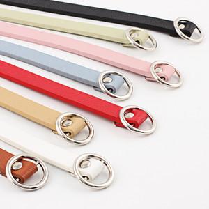 حار المرأة الديكور سليم حزام عيون المعادن جولة السلس مشبك بسيط بو الجلود حزام S555
