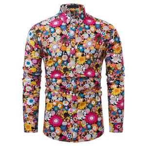 Neue Ankunfts-Mann-Hemd-Muster-Entwurf Langarm-Blumenblumen-Druck Slim Fit Mann-beiläufigen Hemd-Mode-Kleid Shirts Chemise 20
