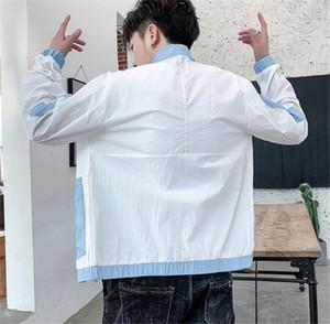 Été Lapel Neck crème solaire lambrissé hommes Vestes manches longues mince Adolescent Vêtements Homme Hommes d'extérieur