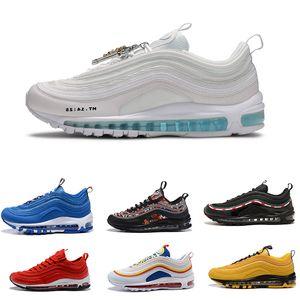 Mschf x INRI JÉSUS 97 hommes de course chaussures coussin 97 invaincues Sean Wotherspoon KPu Plastic Plastic Chaussures Chaussures Fashion En Gros Baskets en plein air