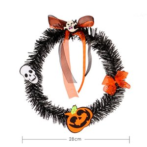 Halloween Wreath Fashion Cute Scarecrow Bird Decor Door Wreath Hanging Ornament For Party Decoration Home Crafts Pet Supplies