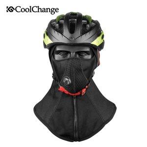 Coolchange hiver vélo visage masque bonnet de ski masque de vélo en molleton thermique bouclier de snowboard chapeau froid couvre-chef vélo de formation masque