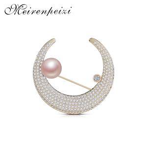 rhinestones moon star brooch fashion ladies men's brooch custom boutique jewelry