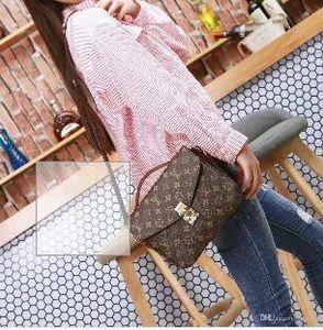 2020 mujeres del diseñador famoso bolso nuevo bolso de la letra del hombro alta calidad del cuero genuino bolsa de mensajero del bolso de lujo de la silla de montar