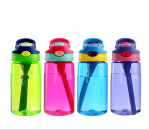 Bouteille d'eau 16 oz Enfants Gobelet VERRES BPA étanche large bouteille bouche avec couvercle flip en cas de fuite Preuve Coupes GGA3235