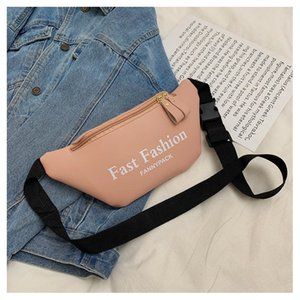 2020 Newest Style Men Women PU Waist Bags Chain Black Solid Fanny Pack Travel Belt Purse Shoulder Bags Tote Waist Bag