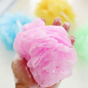 Mesh sfera del bagno inondano la spugna Loofah Palla morbida Nylon Mesh Puff Corpo di pulizia palle Bagno Doccia HHA872