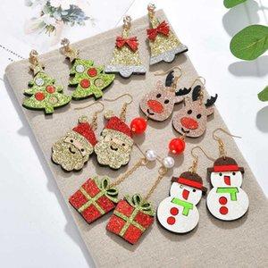 Accessoires renne Nail oreille de Noël Milu Père Noël Bonhomme de neige Boucles d'oreilles cadeau Clochette Oreille-crochet