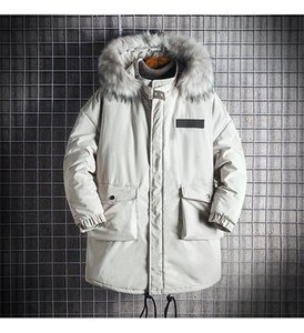 Winter Men Coats Loose Thick Long Sleeve Men Outerwear Casual Hooded Solid Color Male Coats With Pockets
