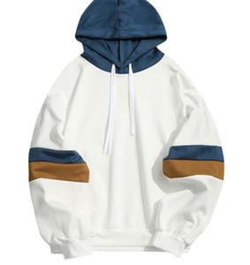 Mens Designer Couleur lambrissé Hoodies Mode en vrac Pull Hoodies manches longues Casual O Neck Pulls Vêtements homme
