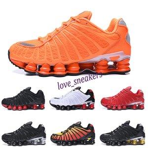 Nike Air Max Shox TL13 mens TL SUNRISE Üniversitesi Red Clay Turuncu Kireç Blast üçlü siyah Ünlü Atletik Spor Spor Ayakkabılar eğitmenler boyutu 40-46 L13 için Ayakkabı Koşu