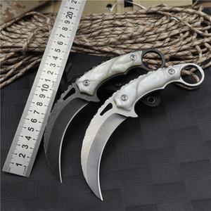karambits 칼 접이식 포켓 나이프는 칼 생존 자동 발톱 바로 전술 칼 블레이드 EDC 고정 야외 1 접는 고정 헌팅을