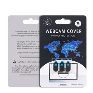 6 en 1 Webcam couverture pour iPhone iPad Macbook Air 2019 Caméra portable Téléphone couverture Web Cam Cover Magnet Curseur Curseur Lents confidentialité